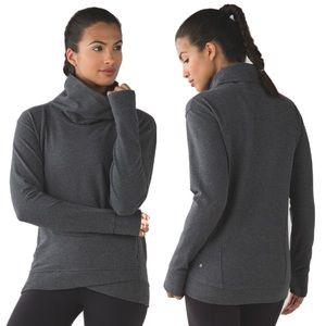 Lululemon On The Double Pullover Sweatshirt 6 Grey
